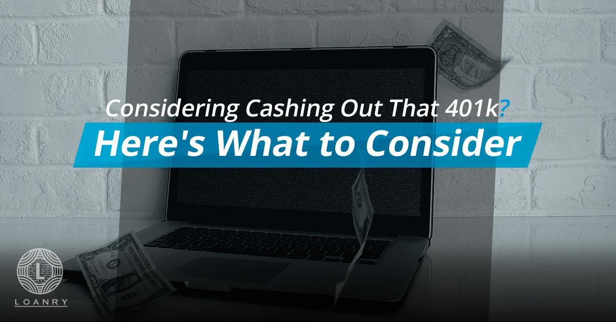 Cashing Out 401k