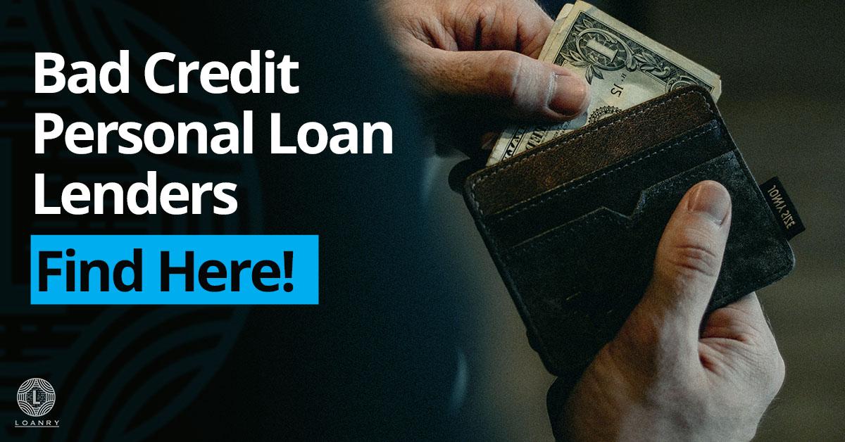 Bad Credit Personal Loan Lenders