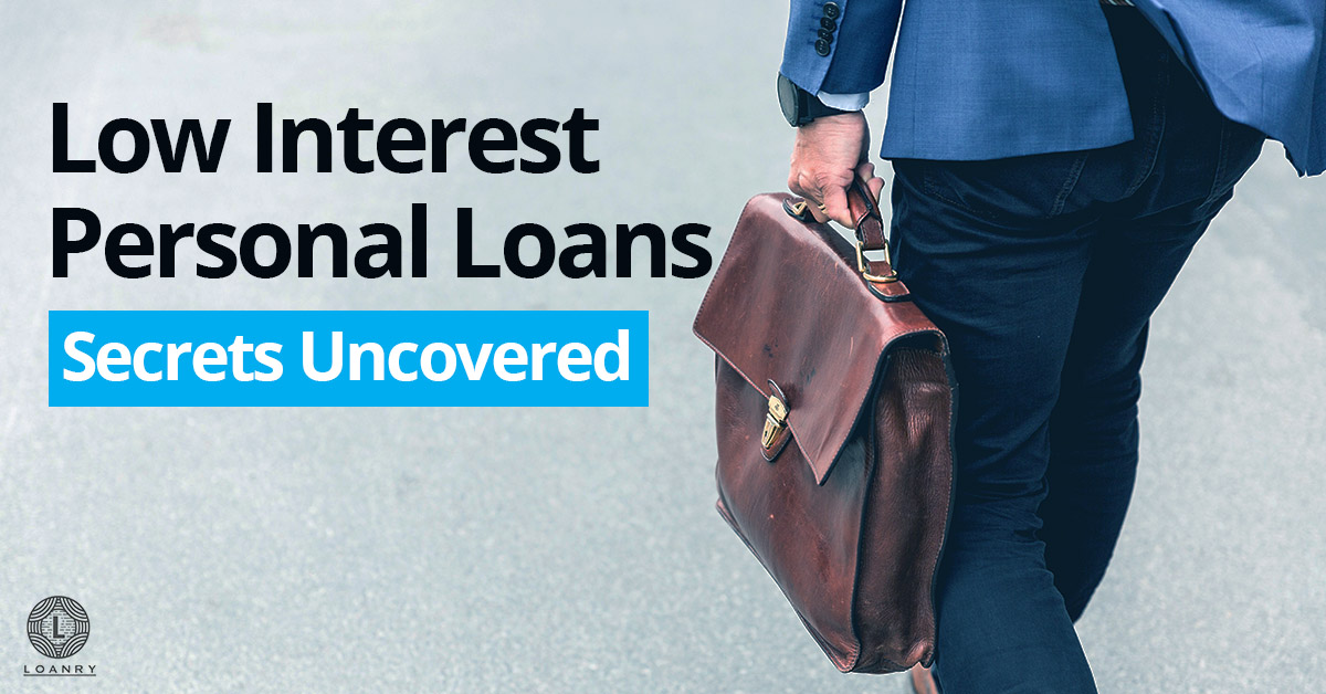 Low Interest Personal Loans