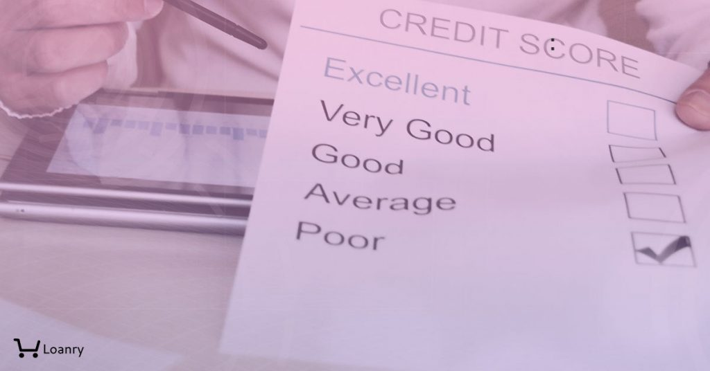 A business man showing a list of credit score types