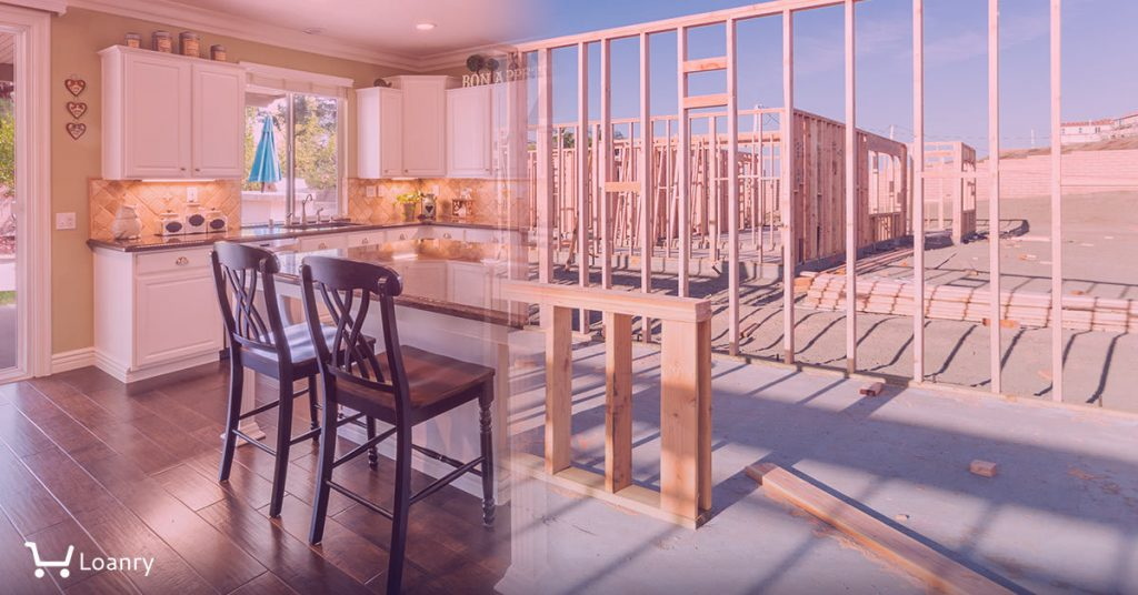 Transition of Beautiful New Home Kitchen From Framing To Completion.