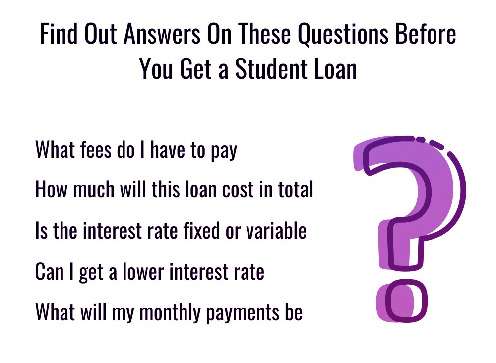 Questions Before you get a student loan