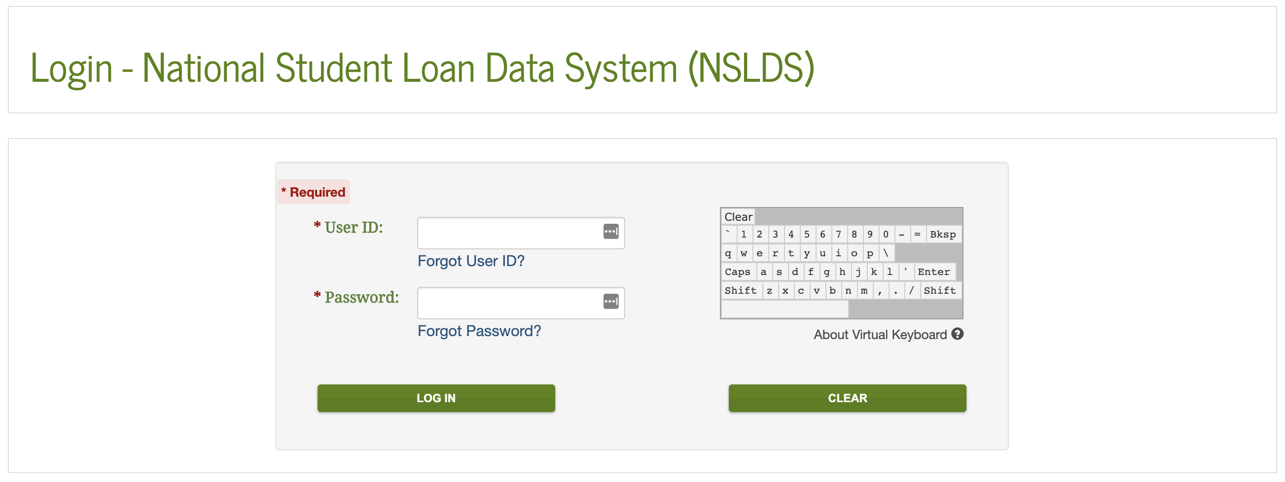 National Student Loan Database Login