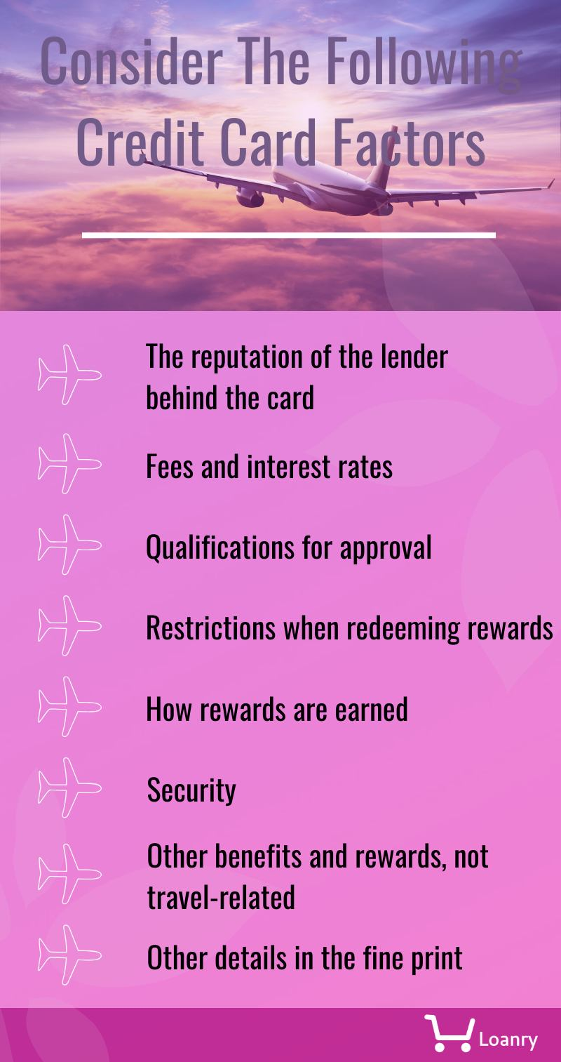 The airline credit card factors to consider